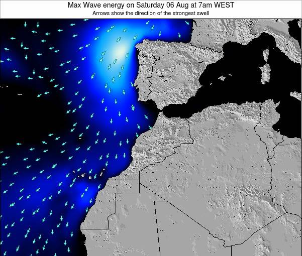 Morocco Max Wave energy on Friday 01 Aug at 1pm WEST