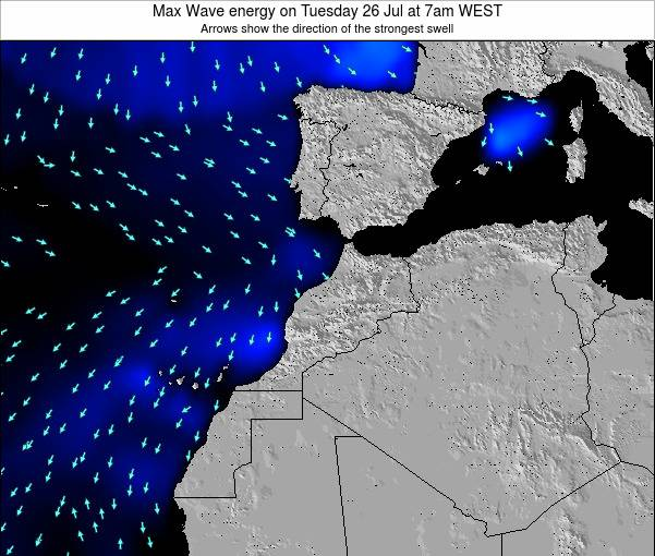 Morocco Max Wave energy on Wednesday 24 Dec at 12am WET