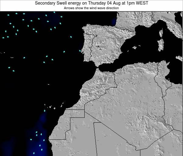 Morocco Secondary Swell energy on Sunday 19 May at 12pm WET