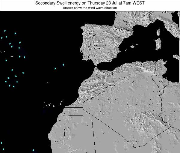 Morocco Secondary Swell energy on Monday 30 Nov at 6pm WET