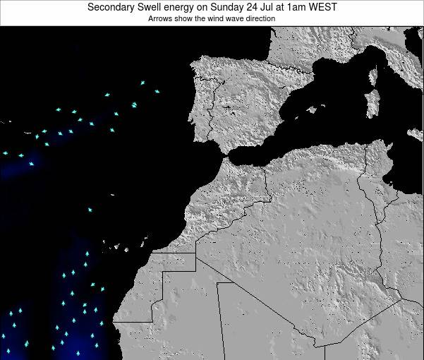 Morocco Secondary Swell energy on Tuesday 21 May at 6am WET