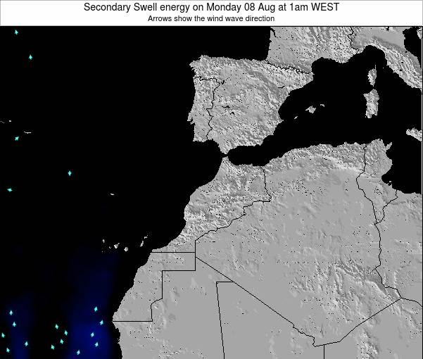 Morocco Secondary Swell energy on Saturday 26 Apr at 12am WET