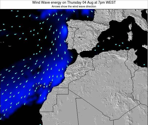 Morocco Wind Wave energy on Friday 24 May at 12am WET