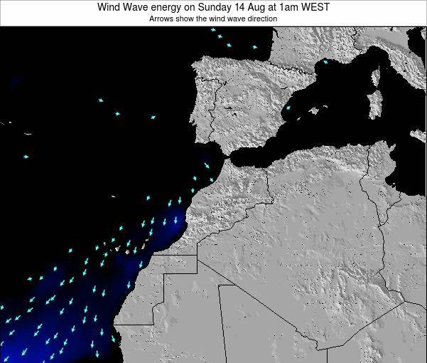 Morocco Wind Wave energy on Saturday 01 Jun at 12am WET