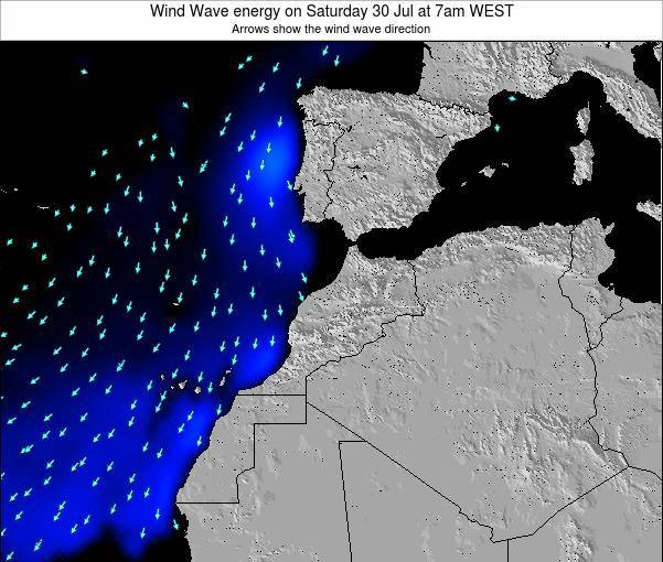 Morocco Wind Wave energy on Tuesday 25 Jun at 6pm WET
