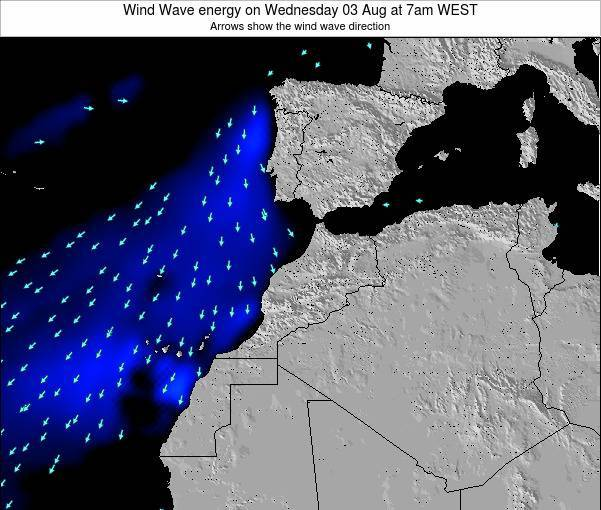 Morocco Wind Wave energy on Friday 24 May at 6am WET