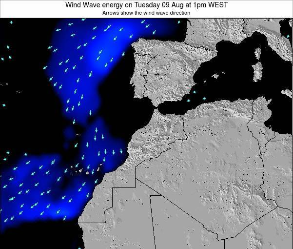 Morocco Wind Wave energy on Saturday 25 May at 12pm WET