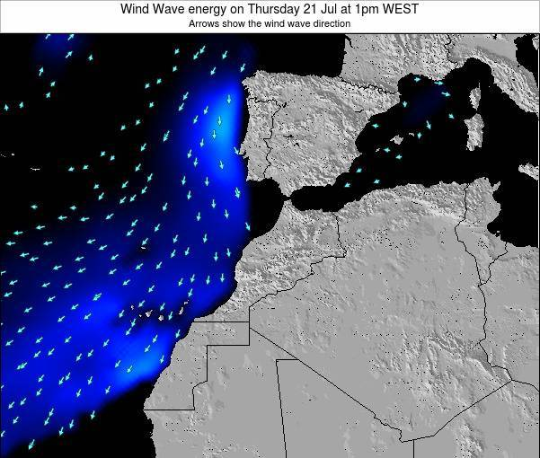 Morocco Wind Wave energy on Wednesday 22 May at 6am WET