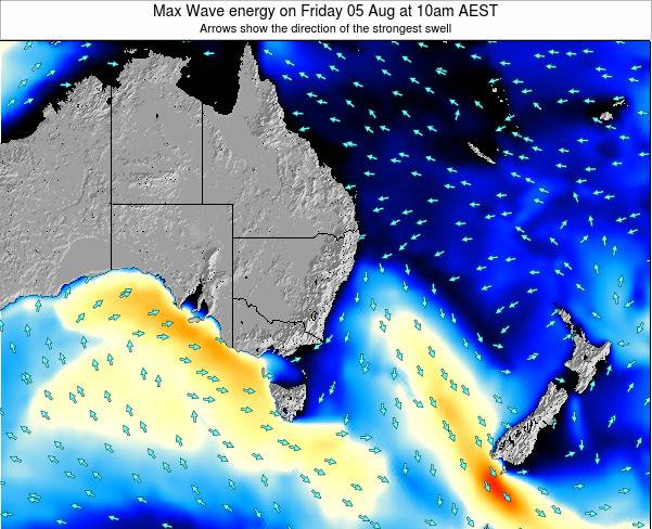 New-South-Wales Max Wave energy on Saturday 25 May at 4am EST