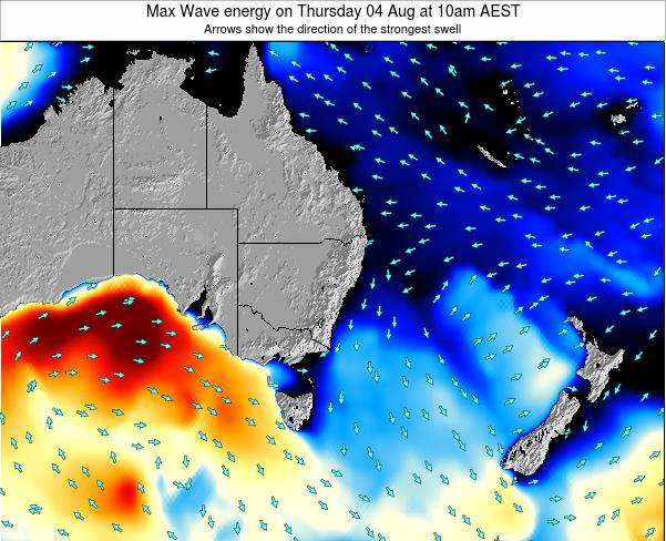 Australian-Capital-Territory Max Wave energy on Friday 19 Oct at 11pm AEDT map