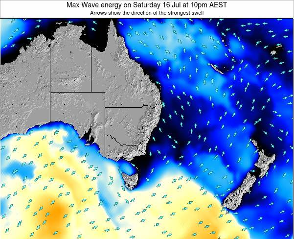 New-South-Wales Max Wave energy on Tuesday 18 Jun at 10am EST