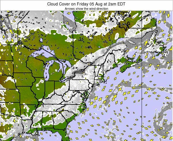 Pennsylvania Cloud Cover on Sunday 19 May at 2pm EDT map