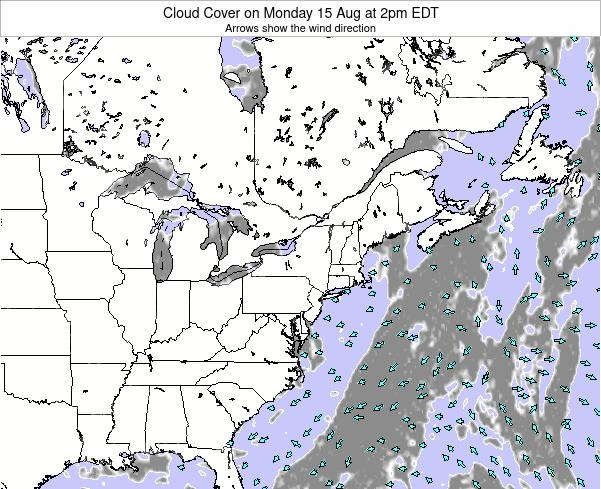 Delaware Cloud Cover on Saturday 25 May at 8pm EDT