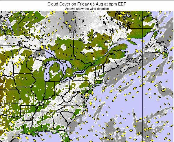 Maryland Cloud Cover on Wednesday 22 May at 2pm EDT map
