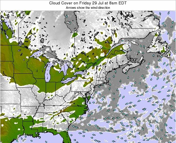 Delaware Cloud Cover on Saturday 25 May at 2am EDT