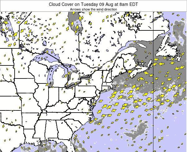 Maryland Cloud Cover on Saturday 25 May at 8am EDT map