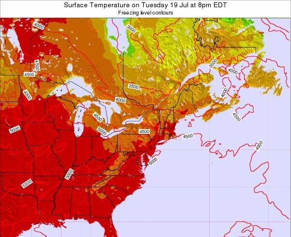 New-York Surface Temperature on Sunday 26 May at 2am EDT