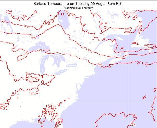 New-York Surface Temperature on Tuesday 28 May at 8am EDT