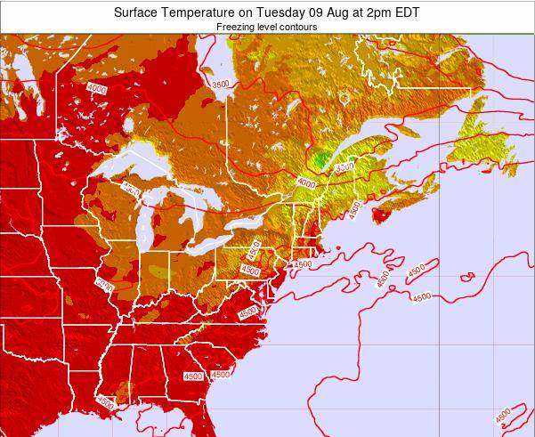 New-Jersey Surface Temperature on Friday 25 Apr at 8pm EDT