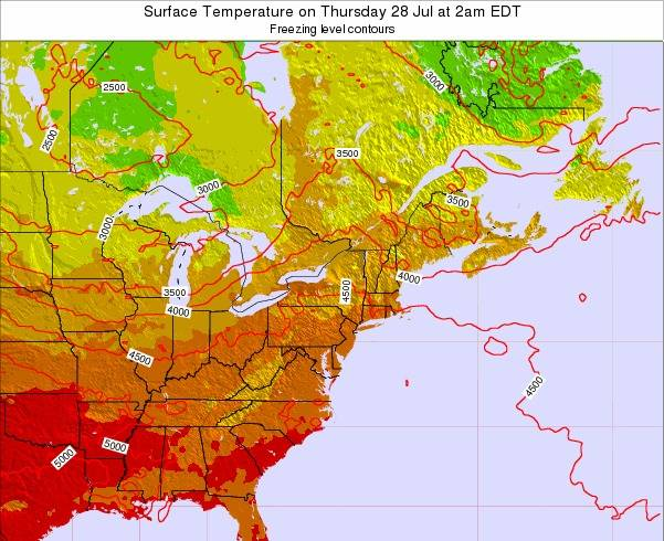 New-Jersey Surface Temperature on Saturday 15 Mar at 8pm EDT