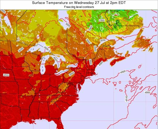 New-Jersey Surface Temperature on Wednesday 29 May at 8pm EDT