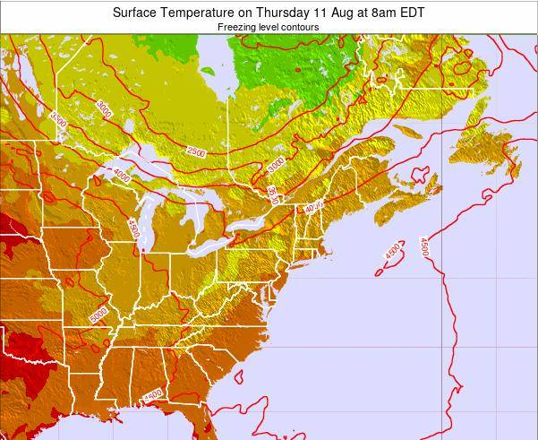 New-York Surface Temperature on Sunday 05 Jun at 8pm EDT