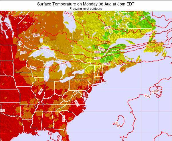 New-York Surface Temperature on Tuesday 21 May at 2am EDT