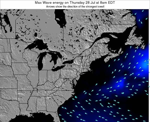Pennsylvania Max Wave energy on Sunday 24 Aug at 2am EDT