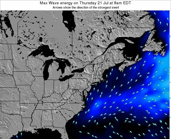 New-Jersey Max Wave energy on Thursday 23 May at 8pm EDT