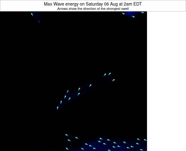 Pennsylvania Max Wave energy on Sunday 27 Apr at 2pm EDT