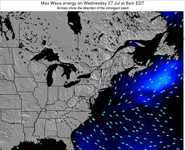 Pennsylvania Max Wave energy on Saturday 07 Mar at 1pm EST
