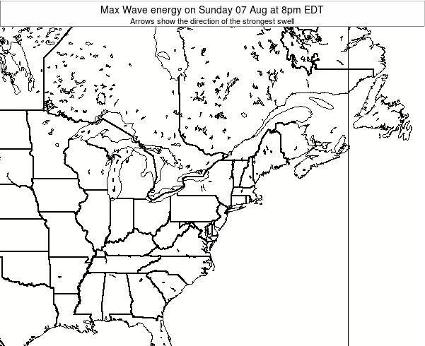 Pennsylvania Max Wave energy on Friday 29 Jun at 8pm EDT map