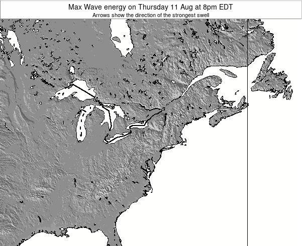 Pennsylvania Max Wave energy on Saturday 02 Aug at 2pm EDT