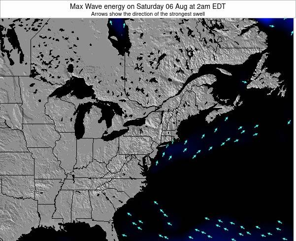 Pennsylvania Max Wave energy on Friday 24 May at 2pm EDT