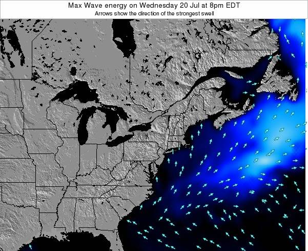 Pennsylvania Max Wave energy on Saturday 05 Dec at 7am EST