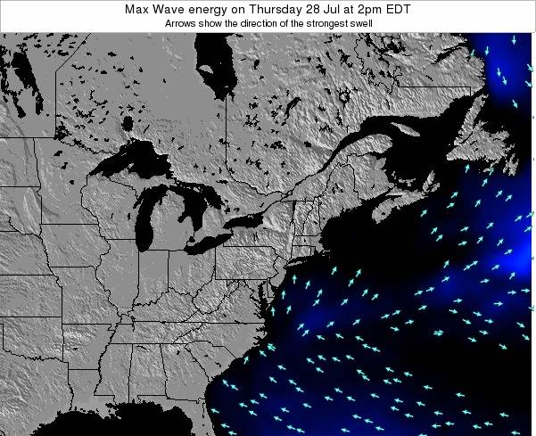 Pennsylvania Max Wave energy on Saturday 14 Dec at 7am EST