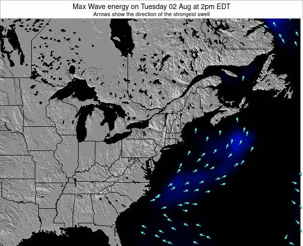 New-York Max Wave energy on Sunday 19 May at 2pm EDT