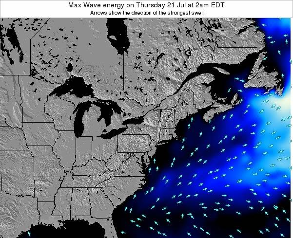 Pennsylvania Max Wave energy on Saturday 08 Mar at 7pm EST