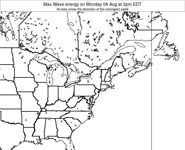 Pennsylvania Max Wave energy on Tuesday 29 Jul at 2pm EDT