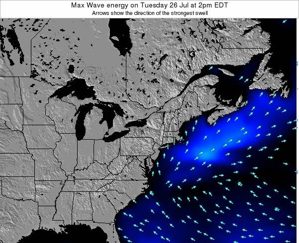 Pennsylvania Max Wave energy on Thursday 24 Jul at 2am EDT