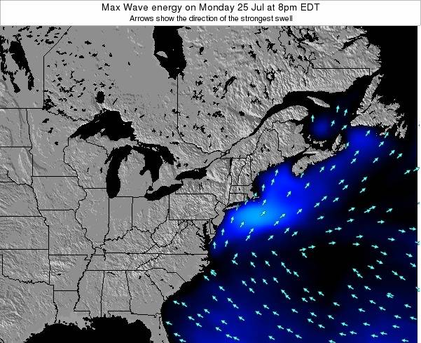 Pennsylvania Max Wave energy on Saturday 07 Dec at 7pm EST