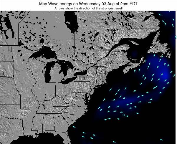 Pennsylvania Max Wave energy on Saturday 22 Jun at 2am EDT