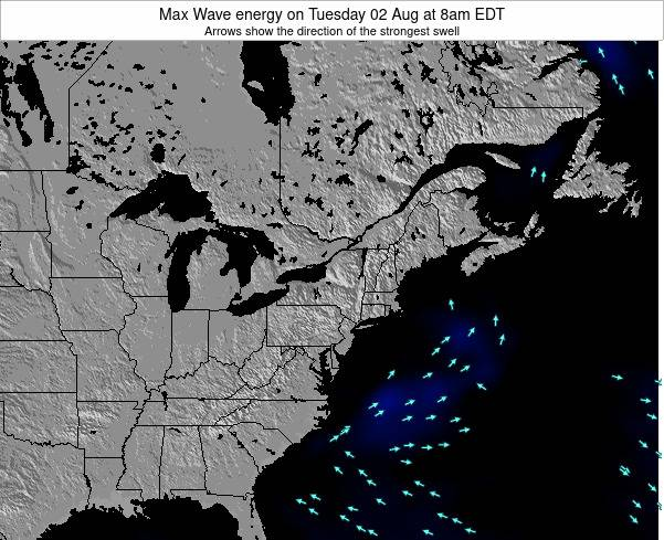 Pennsylvania Max Wave energy on Wednesday 11 Dec at 7am EST