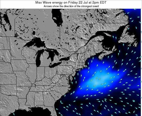New-Jersey Max Wave energy on Friday 24 May at 8pm EDT