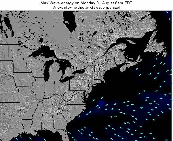 New-York Max Wave energy on Monday 27 May at 2am EDT