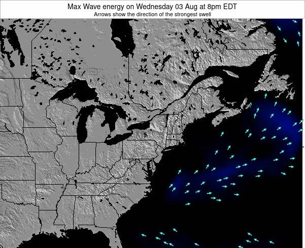 Pennsylvania Max Wave energy on Monday 28 Apr at 8am EDT