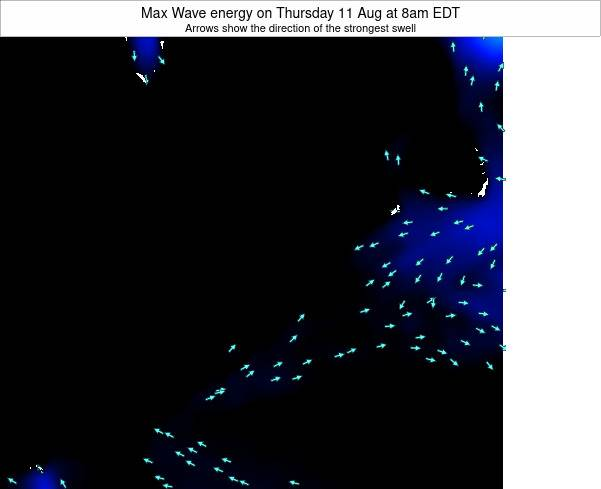 Pennsylvania Max Wave energy on Friday 14 Mar at 2pm EDT