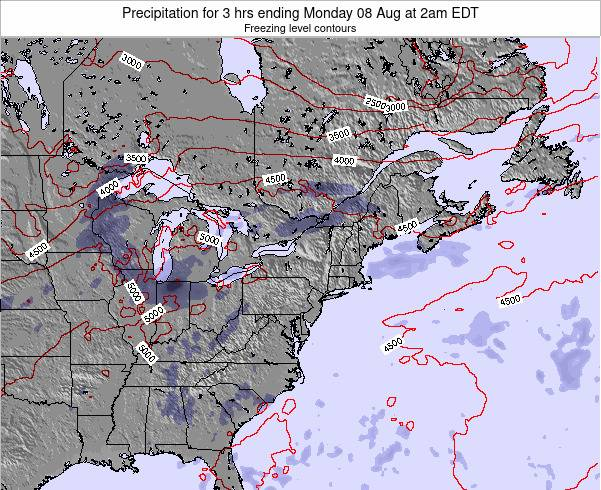 New-York Precipitation for 3 hrs ending Friday 24 May at 2pm EDT map