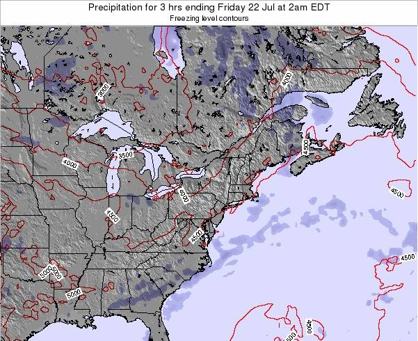 Delaware Precipitation for 3 hrs ending Saturday 25 May at 2pm EDT