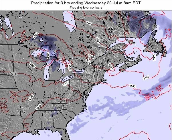 Delaware Precipitation for 3 hrs ending Sunday 26 May at 8pm EDT